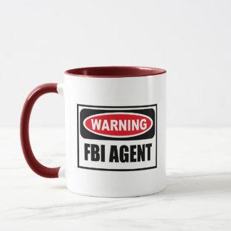 Taza amonestadora del AGENTE DEL FBI