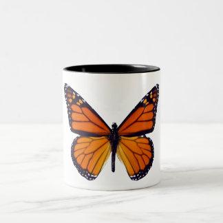 Taza anaranjada de la mariposa