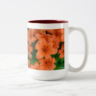 Taza anaranjada de los daylilies