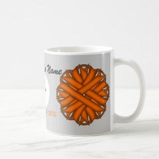 Taza anaranjada del blanco de la plantilla de la