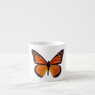 Taza anaranjada del café express de la mariposa taza espresso