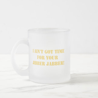 Taza anaranjada del Jabber de Jibber
