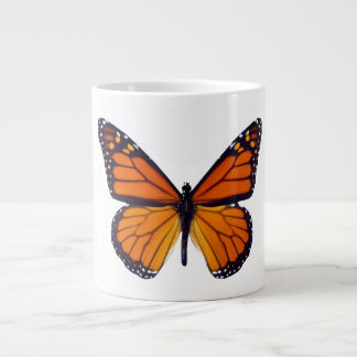 Taza anaranjada del jumbo de la mariposa taza grande