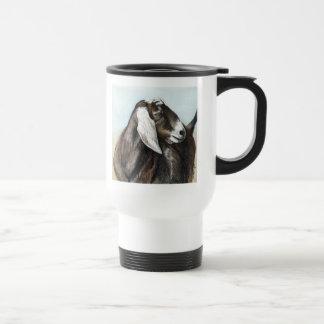 Taza animal del viaje del arte de la cabra de Nubi