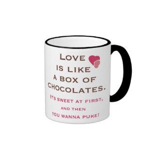 Taza anti del el día de San Valentín
