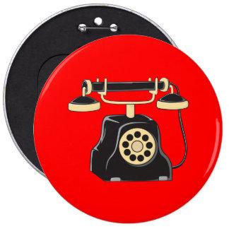 Taza antigua de encargo del colector del teléfono pin