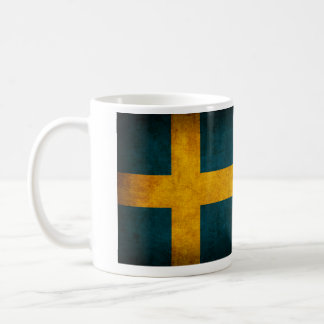 Taza apenada bandera de Suecia