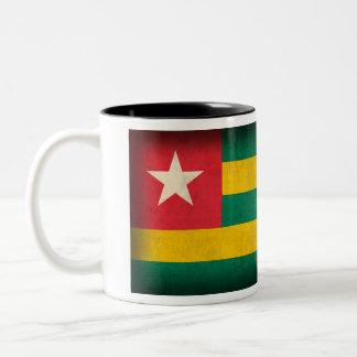 Taza apenada bandera de Togo