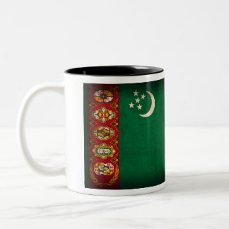 Taza apenada bandera de Turkmenistán