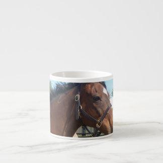 Taza árabe alerta de la especialidad del caballo taza espresso