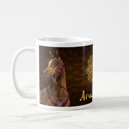 Taza árabe del caballo