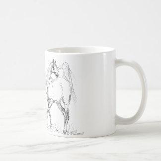 Taza árabe del caballo - caballos árabes