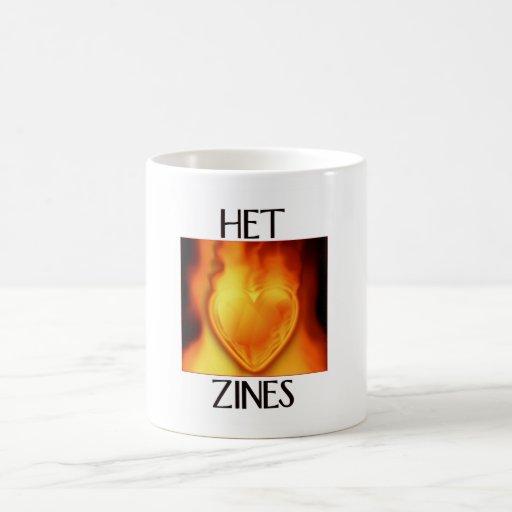 Taza ardiente del corazón del Het Zines