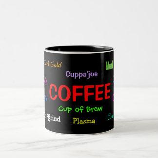 Taza:  Argot del café Taza De Dos Tonos