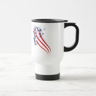 Taza arrebatadora de la bandera americana
