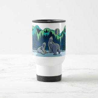 Taza ártica del oso polar de la taza del viaje del