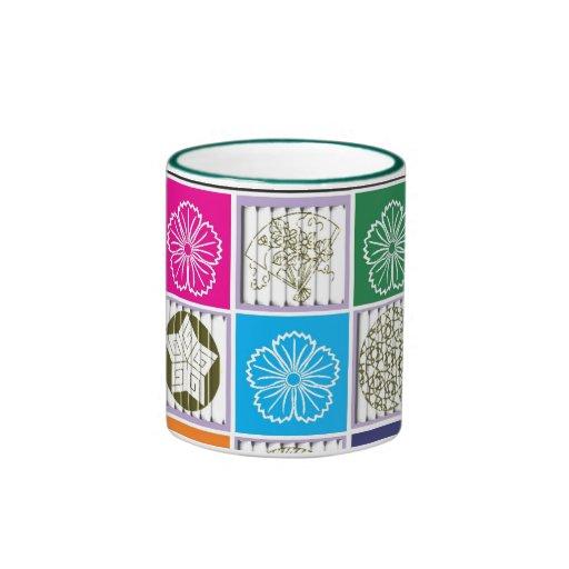 Taza asiática colorida del diseño