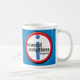 ¡Taza asustada de Scriptless - su nombre aquí! Taza Clásica