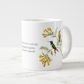 Taza atada chispeante del jumbo del colibrí taza grande