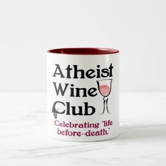 Taza atea del club del vino