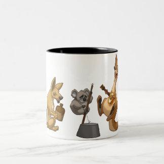 Taza australiana de la banda de jarro