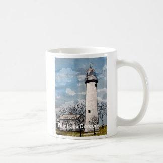 taza aux. de la taza de café del faro de las