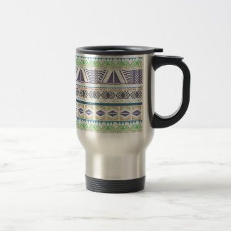Taza azteca colorida y única del arte