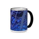 Taza azul abstracta del Foto-Arte