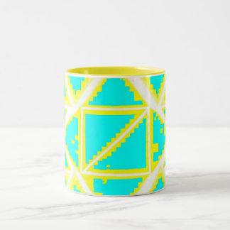 Taza azul blanca amarilla por da'vy