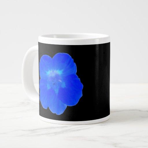Taza azul de la capuchina taza extra grande
