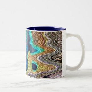 taza azul de la gota