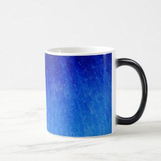 Taza azul de la textura