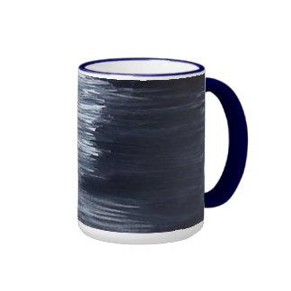 Taza azul de la tiza