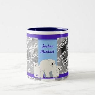 Taza azul de los osos polares