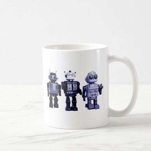 taza azul de los robots