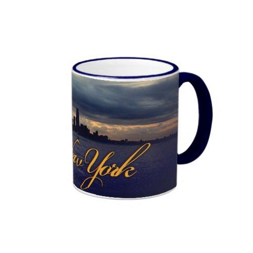 Taza azul de New York City
