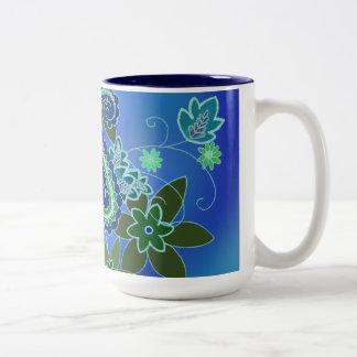 Taza azul de Paisley