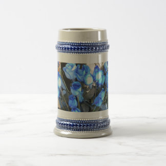 Taza azul de Stein de los rosas