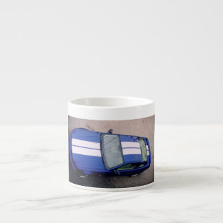Taza azul del café express del coche del músculo tazas espresso