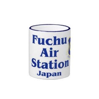 Taza azul del campanero de Japón de la estación