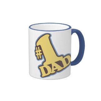 Taza azul del campanero del papá #1