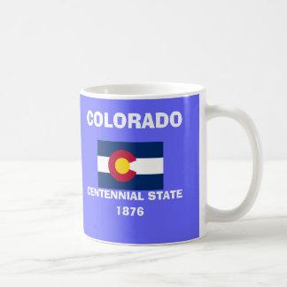 Taza azul del estado de Colorado* CO