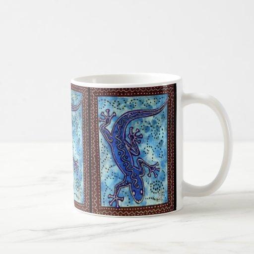 Taza azul del Gecko