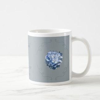 Taza azul del Hydrangea