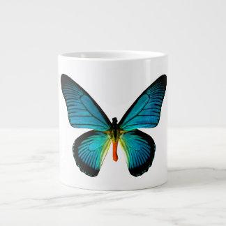 Taza azul del jumbo de la mariposa taza grande