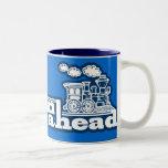 """taza azul del logotipo del tren del vapor del """"vap"""
