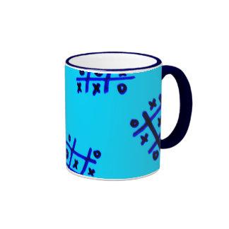 taza azul del nudo y de las cruces