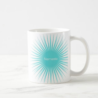 taza azul del sol del namaste