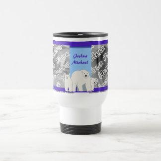 Taza azul del viaje de los osos polares