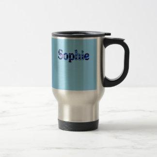 Taza azul del viaje del acero inoxidable de Sophie